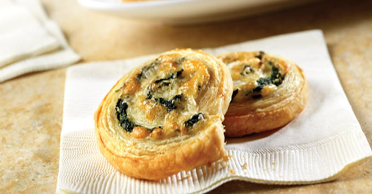 Spinach-Cheese Swirl Appetizer