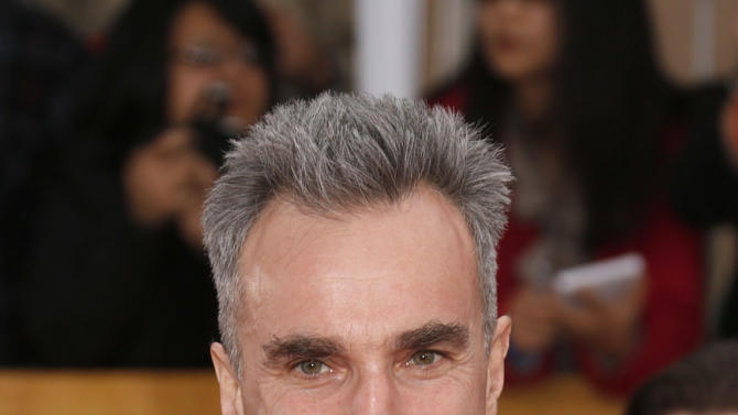Daniel Day-Lewis arrives at the 19th Annual Screen Actors Guild Awards at the Shrine Auditorium in Los Angeles on Sunday Jan. 27, 2013. (Photo by Todd Williamson/Invision for The Hollywood Reporter/AP Images)