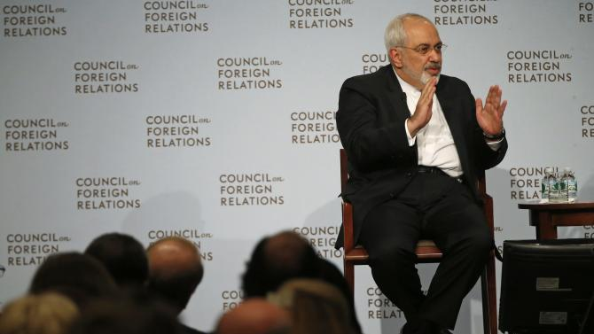 Iranian Foreign Minister Mohammad Javad Zarif speaks to the Council on Foreign Relations in New York