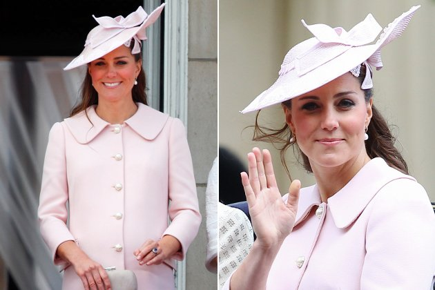 Kate Middleton mit Babybauch in Rosa