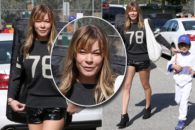 LeAnn Rimes mit knappen Short - und Pillow-Face! (Bilder: Splash News)