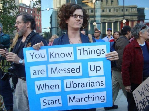 Librarians are part of the 99 percent