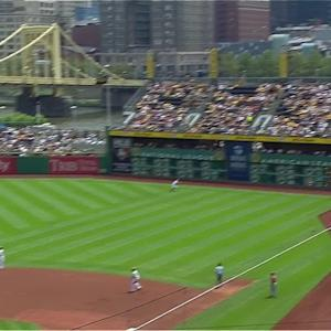 Polanco's strong throw