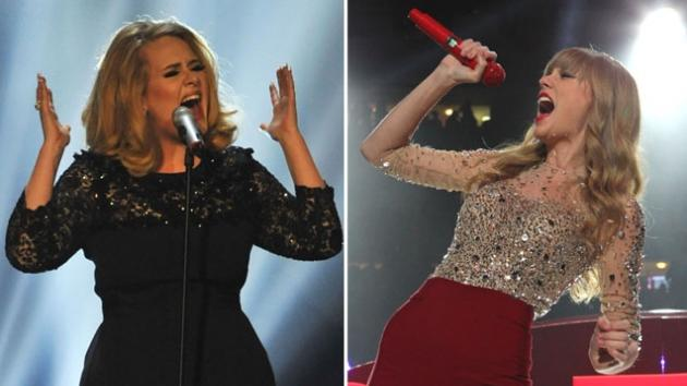 Adele / Taylor Swift -- Getty Images
