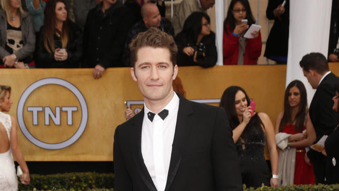 Matthew Morrison arrives at the 19th Annual Screen Actors Guild Awards at the Shrine Auditorium in Los Angeles on Sunday Jan. 27, 2013. (Photo by Todd Williamson/Invision for The Hollywood Reporter/AP Images)