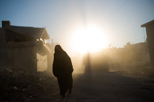 A Syrian woman walks through the dust thrown up by excavated rubble of houses in Azaz, northern Syria, on August 19. Fighting raged in Aleppo Monday as rebels doggedly resisted a regime onslaught launched in the northern city a month ago, amid warnings by new peace envoy Lakhdar Brahimi of full-out civil war in Syria