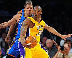 Kobe's defense fuels Lakers' rout of Thunder
