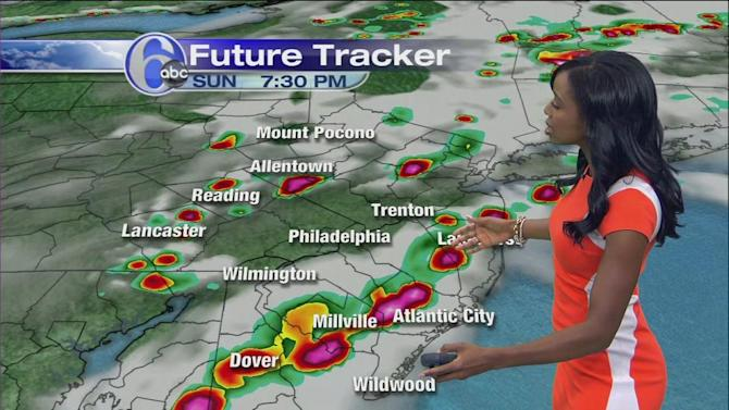 AccuWeather: T'Storms Possible Monday