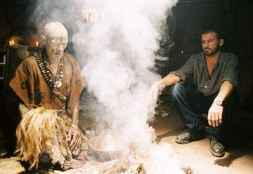 Ernest Ndlovu and Dominic Purcell in Hollywood Pictures' Primeval