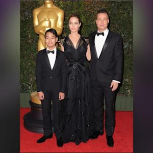 Angelina Jolie Gives Her Kids Sweet Kisses