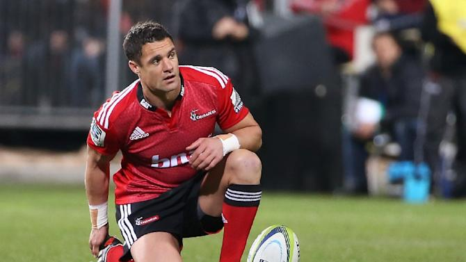 Dan Carter of the Canterbury Crusaders prepares to kick a penalty during a Super 15 rugby union match, at AMI Stadium in Christchurch, on July 26, 2014