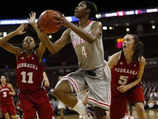Ohio State girls basketball player Tayler Hill — Associated Press