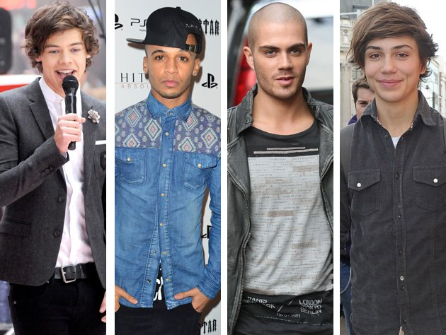 One Direction, JLS, The Wanted and Union J
