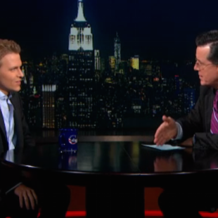 Ronan Farrow Introduced With Frank Sinatra Song on 'Colbert Report' (Video)