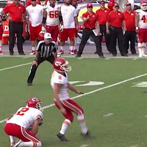 Kansas City Chiefs rookie kicker Cairo Santos kicks game-winning field goal