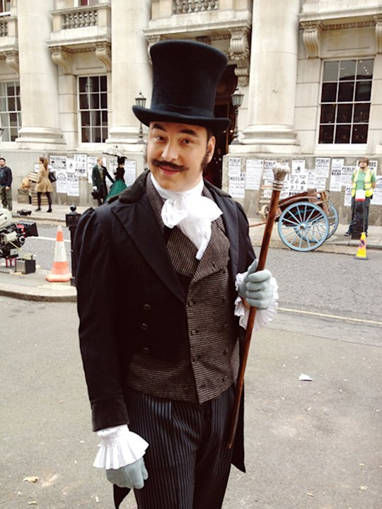 Celebrity photos: David Walliams donned this unusual ensemble for some filming for Britain's Got Talent. We think it quite suits him!