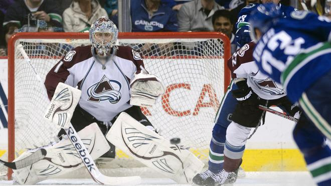 Goalie Semyon Varlamov #1 Of The Colorado Avalanche Stops Getty Images