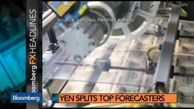 Yen's Slide Splits Top Forecasters