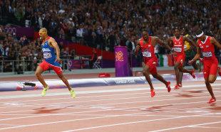 Felix Sanchez wins gold in the Men's 400m Hurdles (Getty Images)