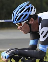 Britain's David Millar competes in the first stage of the inaugural Tour of Beijing cycling race on October 5, 2011. The chairman of the British Olympic Association (BOA), Colin Moynihan, has urged the Court of Arbitration for Sport (CAS) to reject a challenge to their policy of a lifetime Olympics ban for drugs cheats. If the challenge succeeds Millar could be eligible for this year's Olympics