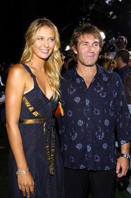 Maria Sharapova and Pat Cash at the Beverly Hills premiere of Universal Pictures' Wimbledon