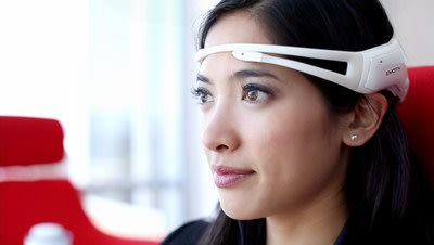 Emotiv Insight, a 5 channel, wireless headset that records brainwaves and translates them into meaningful data.