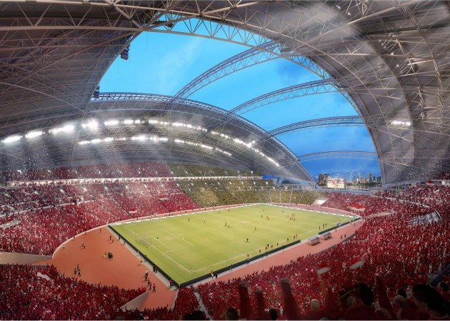 The dome will provide shade and shelter to the 55,000-seat stadium