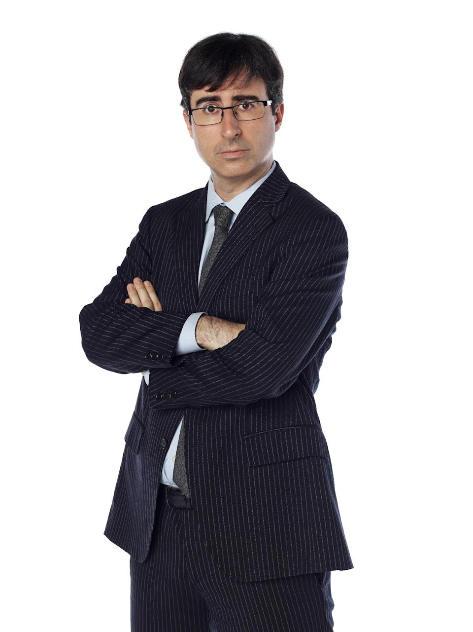 "This undated image released by Comedy Central shows John Oliver, a correspondent from ""The Daily Show with Jon Stewart."" Oliver will temporarily replace host Jon Stewart on the popular spoof news show while Stewart directs and produces the film, ""Rosewater."" (AP Photo/Comedy Central, Martin Crook)"
