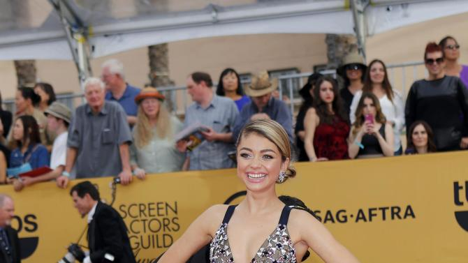Sarah Hyland arrives at the 21st annual Screen Actors Guild Awards in Los Angeles