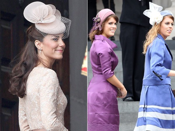Kate Middleton Vs. Princesses Beatrice & Eugenie: Who Had The Prettier Fascinator?