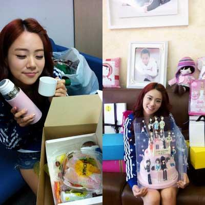 Kara's Han Seung Yeon Tweets Thanks for Fan Gifts from Kara's 5th Anniversary