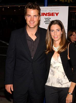 Premiere: Chris O'Donnell and wife Caroline at the Westwood premiere of Fox Searchlight's Kinsey - 11/8/2004