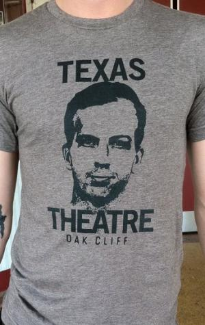 "The Texas Theatre ""Oswald"" shirt. (Photo courtesy of Jason Reimer/Aviation Cinemas.)"