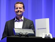 President and group CEO of Sony Computer Entertainment Andrew House introduces the new PlayStation 3 during a press conference in Tokyo