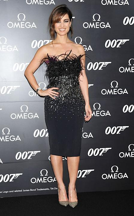 "It's hard to pull off both feathers and extensive beading (that's a lot going on), but Bérénice Marlohe did just that at the Japanese premiere of ""Skyfall."" No wonder she's Bond girl material! The Fre"