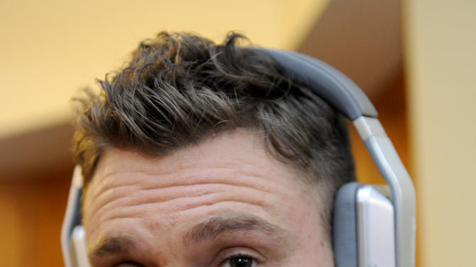 Actor Clayne Crawford wears Inspiration headphons by Monster Products at the Fender Music lodge during the Sundance Film Festival on Friday, Jan. 18, 2013, in Park City, Utah. (Photo by Jack Dempsey/Invision for Fender/AP Images)