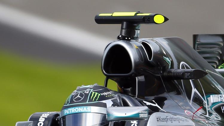 Mercedes Formula One driver Nico Rosberg of Germany drives during the Belgian F1 Grand Prix in Spa-Francorchamps