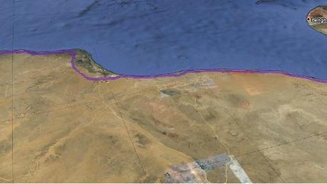 The Libyan Stalemate Suggested by Google Earth
