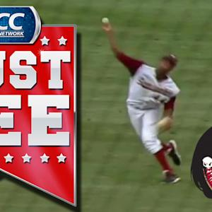 FSU's Jameis Winston Shows Off His Arm In The Outfield | ACC Must See Moment Of 2013 Candidate