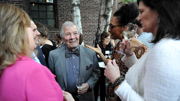 "IMAGE DISTRIBUTED FOR CHASE SAPPHIRE PREFERRED - Taste America honorary chair, chef Jacques Pepin, chats with guests at the kick-off event for the James Beard Foundation's ""Taste America"" traveling food festival presented by Chase Sapphire Preferred Visa Signature at the James Beard House on Wednesday, June 12, 2013 in New York City, New York. (Photo by Evan Agostini/Invision for Chase Sapphire Preferred/AP Images)"