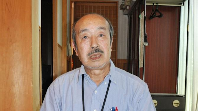 Koji Yamamoto, the father of Japanese journalist Mika Yamamoto who was killed in Syria while covering the civil war there, speaks about her at his house in Tsuru in Yamanashi Prefecture, central Japan, Tuesday, Aug. 21, 2012. The Japanese government said in Tokyo earlier in the day Yamamoto, a veteran war correspondent with The Japan Press, an independent TV news provider that specializes in conflict zone coverage, was killed Monday in the northwestern city of Aleppo. (AP Photo/Kyodo News) JAPAN OUT, MANDATORY CREDIT, NO LICENSING IN CHINA, HONG KONG, JAPAN, SOUTH KOREA AND FRANCE