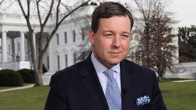 This Nov. 30, 2012 publicity photo provided by FOX News Channel shows Chief White House Correspondent Ed Henry reporting outside of the White House in Washington, D.C.  Henry, 41, is preparing for four more years on the beat and would like to cover the Obama administration from beginning to end. He came to Fox in 2011 from CNN, for whom he had worked in Washington since 2004. (AP Photo/FOX News Channel)