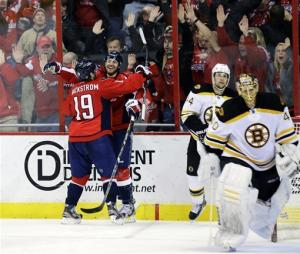 Capitals rally from 3 down, beat Bruins 4-3 in OT