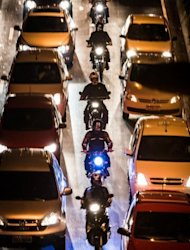 Heavy traffic on a street in Sao Paulo last month during a metro strike. The city has horrendous traffic congestion -- with four million vehicles clogging the city's roadways on weekdays -- and Jorge believes the solution is to impose greater restrictions on the use of cars, trucks and motorcycles