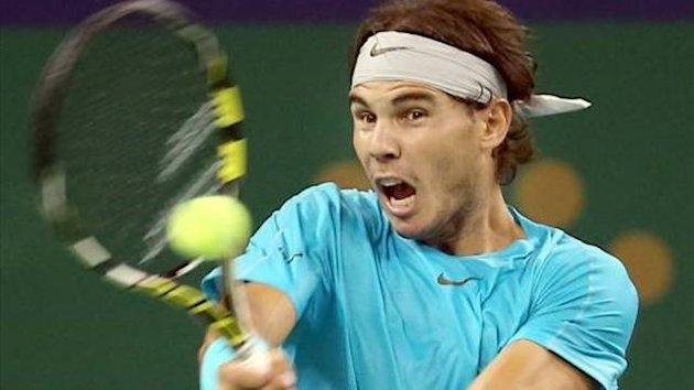 Rafael Nadal in action at the Shanghai Masters (Imago)