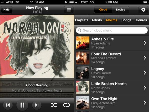 Amazon launches Cloud Player app for iPhone and iPod touch