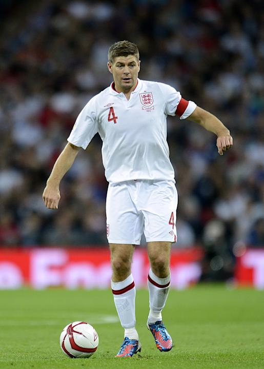 Steven Gerrard has been handed his 100th England cap