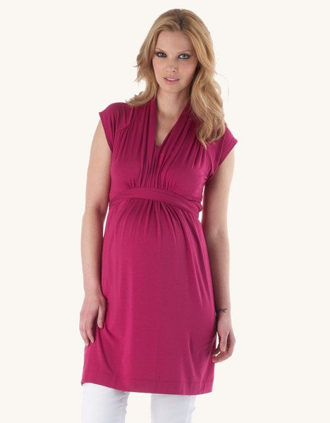 Seraphine Shawl Collar Maternity Dress