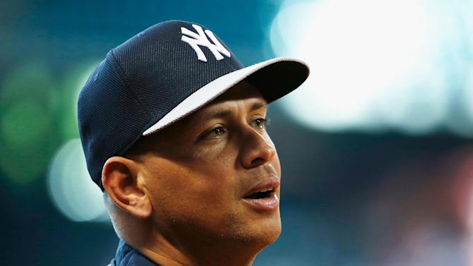 Alex Rodriguez of the New York Yankees works out on the field before the game against the Houston Astros at Minute Maid Park on September 27, 2013 in Houston, Texas
