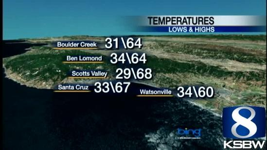 Watch your Monday night KSBW weather forecast 02.25.13